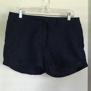 GAP Linen Shorts, Navy, 6